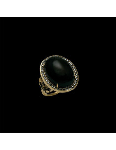 Bague Ovale Empire Onyx